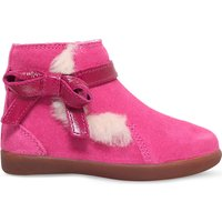Ugg Libbie bow-detail suede boots 2-5 years, Size: EUR 25 /7.5 UK KIDS, Pink