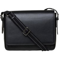 Mon Purse Men's leather messenger bag, Mens, Black