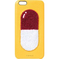 Chaos Pill leather iPhone 6 case, Women's, Yellow red & white