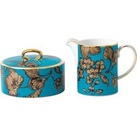 Wedgwood Vibrance cream and sugar floral china set