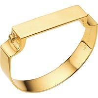 Monica Vinader signature 18CT gold-plated bangle