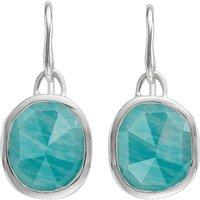 Monica Vinader Siren sterling silver and amazonite wire earrings, Women's