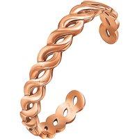 Apeiron rose gold-plated bangle