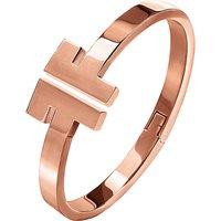 Logomania rose gold-plated bracelet