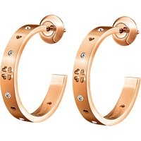 Love&Fortune rose gold-plated hoop earrings