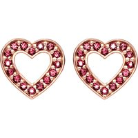 Glam & Soul heart 18ct rose gold-plated earrings