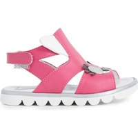 STEP2WO Cuckoo leather sandals 6 months - 7 years, Size: EUR 22 / 5 UK KIDS, Fuchsia