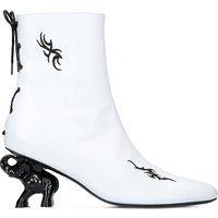 Tribal elephant heel leather ankle boots