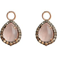18ct rose-gold, rose quartz and diamond earring drops