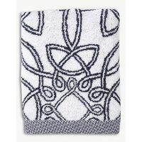 Yves Delorme Entrelacs cotton bath sheet, Size: Bath Sheet, Marine