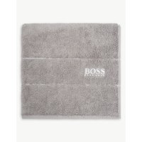 Hugo Boss Plain egyptian cotton towel, Size: Bath Towel, Concrete