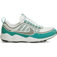 Nike Zoom Spiridon leather and mesh trainers, Mens, Size: 6, White silver turbo