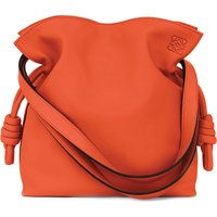 Loewe Flamenco knot small leather bag, Women's, Size: Small, Coral