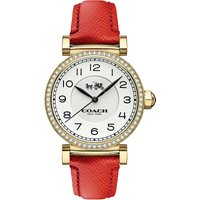 Coach 14502400 madison gold-plated stainless steel and leather watch, Women's
