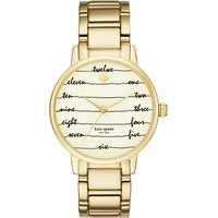 Kate Spade KSW1060 New York Gramercy gold-tone stainless steel watch, Women's