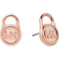 Lock rose gold-toned earrings