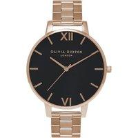 Olivia Burton OB15BL23 Big Dial rose gold-plated watch, Women's, rose