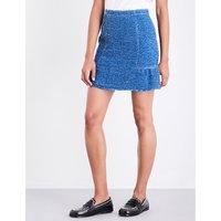 Peplum tweed skirt