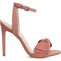 Office Harmony Bow Trim nubuck sandals, Women's, Size: 5, Blush pink nubuck