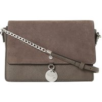 Evania suede leather handbag