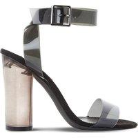 Open-toe transparent sandals