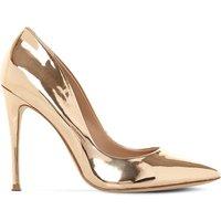 Daisie metallic-leather heeled courts