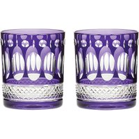 Royal Scot Crystal Belgravia set of two large crystal tumblers, Amethyst