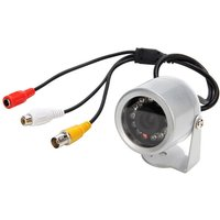 12-IR Night-Vision Weatherproof Surveillance Security Camera with Audio Sound (PAL)