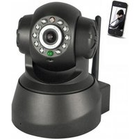 Wireless 0.3MP Network Security IP Camera - Black (US Plugs)