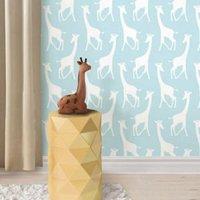wallpops savannah soiree giraffe blue peel and stick wallpaper (l)5.5m (w)52cm