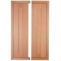 Cooke & Lewis Carisbrooke Oak Framed Corner Wall Door (W)625mm  Set of 2