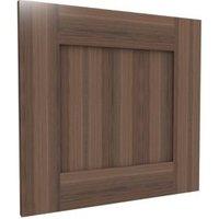 Darwin Modular Walnut Effect Matt Bedside Cabinet Door (H)478 mm (W)497 mm