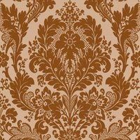 kingsley bronze damask glitter effect wallpaper