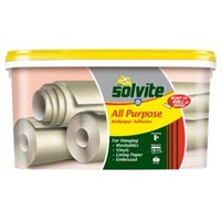 solvite all purpose ready to roll wallpaper adhesive 4.5kg