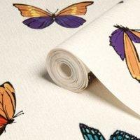 graham and brown julien macdonald flutterby butterfly glitter and metallic effect wallpaper