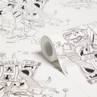 graham and brown colour me black and white kids wallpaper