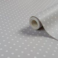 graham and brown grey and white spot matt wallpaper