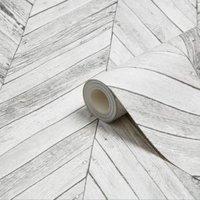 graham and brown fresco grey herringbone wood wallpaper