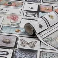 graham and brown fresco apothecary drawers wallpaper