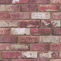 graham and brown fresco red brick wallpaper
