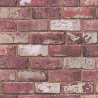 graham and brown fresco red brick wallpaper