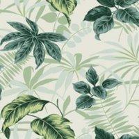 superfresco easy bora bora green leaves matte wallpaper