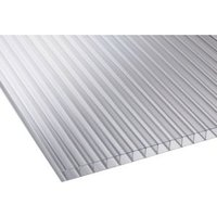 Clear Multiwall Polycarbonate Roofing Sheet 2.5M x 1050mm  Pack of 5