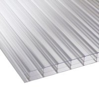 Clear Multiwall Polycarbonate Roofing Sheet 2.5M x 980mm  Pack of 5