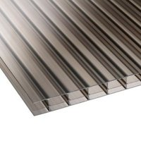 Bronze Multiwall Polycarbonate Roofing Sheet 2.5M x 700mm  Pack of 5
