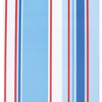 holden décor paige blue  red and white stripe wallpaper