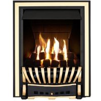 Focal Point Elegance Multi Flue Black & Brass Effect Remote Control Inset Gas Fire