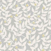 ideco home ola grey leaf mica wallpaper