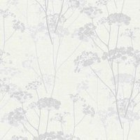 gold ophelia grey floral glitter wallpaper