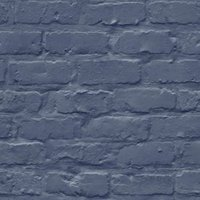 gold blue brick matt wallpaper